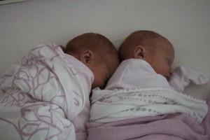 The girls like to sleep