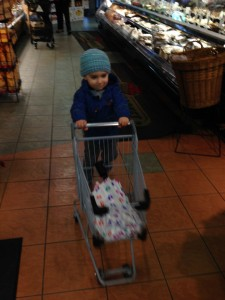 Mateo at supermarket