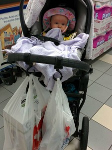 Miya and the Stroller Hooks