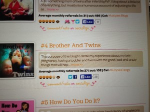 Number 4 at Top Mommy Blogger!