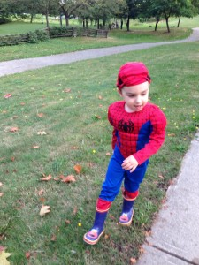Spiderman looking for bad guys!