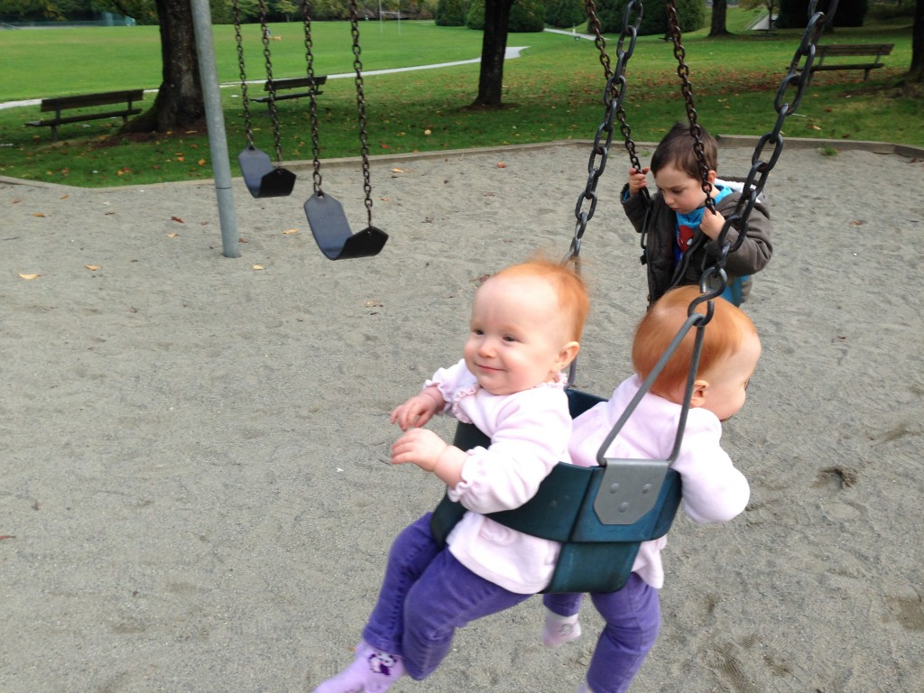 On the swing!