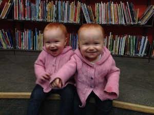 Maeva and Miya at the library!