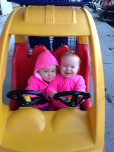 Miya and Maeva driving a car!