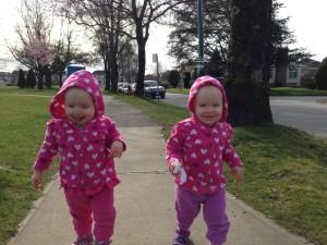 Let have a walk! (Maeva left, Miya right)