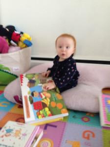 Miya reading her favourite book!