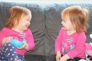 Maeva and Miya having a tea party!